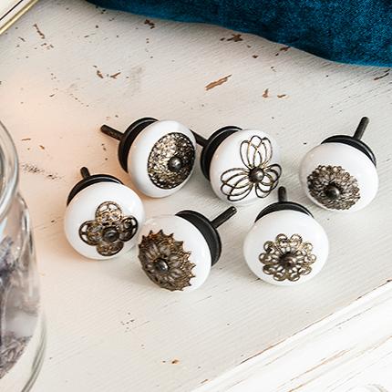 Antik Schwarz Möbelknopf griff Griffe Kommoden Küchen Tür Knopf Knöpfe